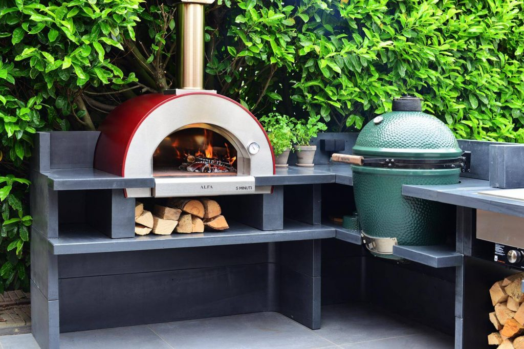 pizza oven stand ideas